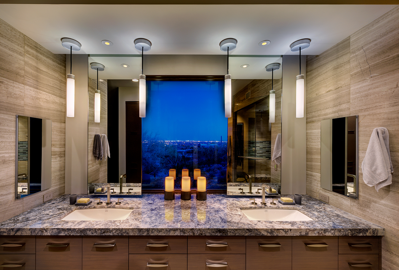 Tucson Cabinets & Stoneworks bathroom double sink vanity (image)